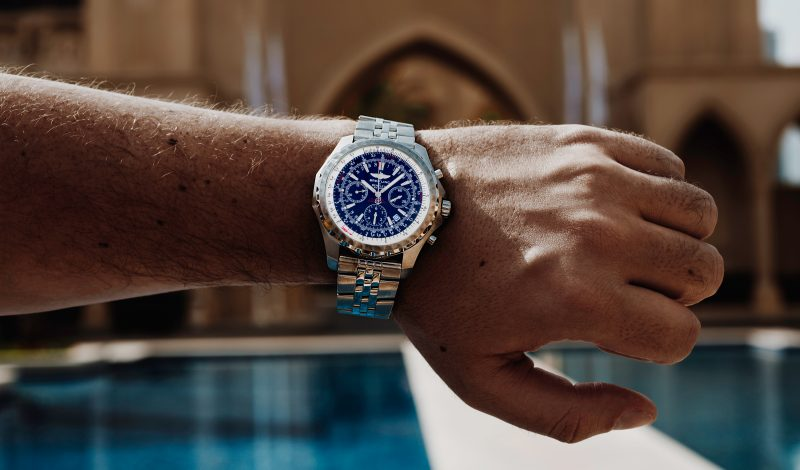 Breitling Bentley Blue Dial Chronograph Watch